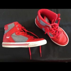 Supra Boys High-tops, Red